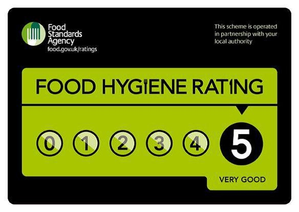 5 Stars Hygiene Rating